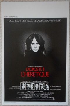 Exorcist 2, Original Belgian Film Poster, Linda Blair, Richard Burton, 77